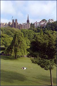 Princes Street Gardens in summer